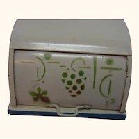 Nice Old Vintage German Tin Bread Box Doll House Kitchen Miniature