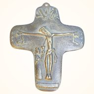"Mid Century E. Weinert Cross "" Do you believe in eternal Life? """