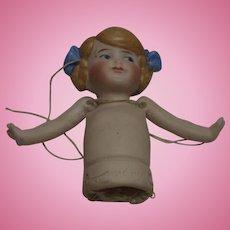 Antique German Bisque Half Doll