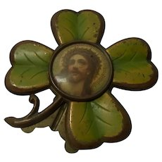 Jesus Picture in Lucky Clover Copper Painted