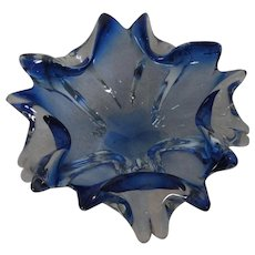Mid Century 60's Italy Murano Ashtray