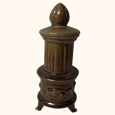 Empire Style Stove Oven Ceramic Antique German Dollhouse