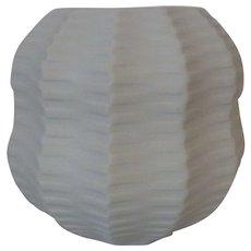 Mid Century White Matt Hutschenreuther Calabash Vase Heinrich Fuchs