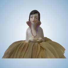 German Art Deco Half Doll Pin Cushion