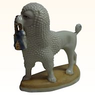 Vintage German China Poodle Dog with Basket