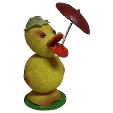 Vintage German Cardboard Duck Candy Container