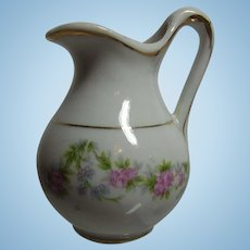 Antique German China Dollhouse Water Can Ewer