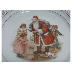 Vintage German Schumann China Plate Santa Claus ca.1920