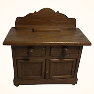 German Art Deco Dollhouse Oak Wood Sideboard