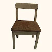 Vintage German Wood Dollhouse Chair