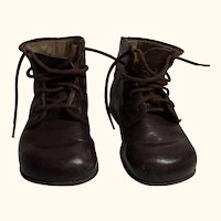 Old German Child Doll Handmade Leather Shoes