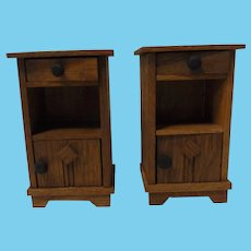 German Doll House Oak Wood Two Night Stand