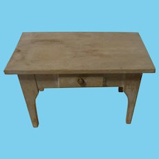 Vintage German Wood Doll House Table