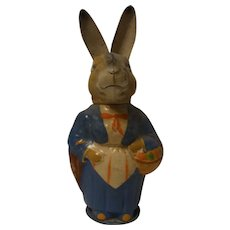 Vintage German Easter Bunny Paper Mache Candy Container