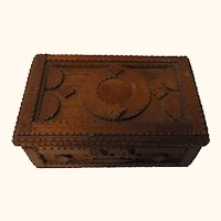 German Tramp Folk Art Box