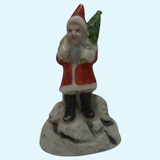 Vintage German Bisque Santa Claus Drip Catcher