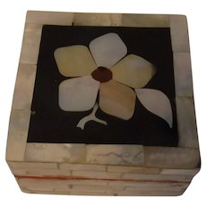 Vintage Mother of Pearl Box Flower