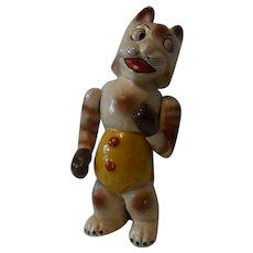 Vintage Paper Mache Boxer Cat