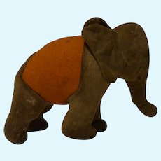 Vintage German Stuffed Elephant Wood Wool ca.1920s