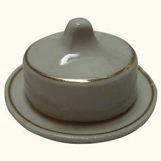 German Dollhouse Butter Dish Porcelain
