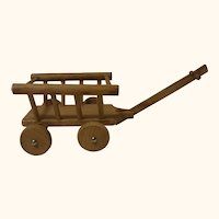 German Wood Hand Wagon Doll or Dollhouse