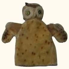 Steiff Owl Hand Puppet Vintage German