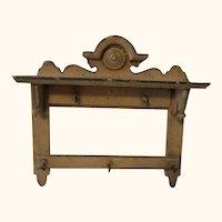 Wood Wall Shelf Historicism German Dollhouse ca.1890s