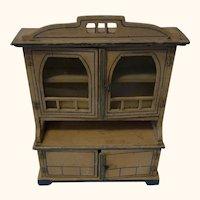 Wood Buffet Art Nouveau German Dollhouse ca.1910s