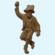 Doll Size Carved Wood Mountain Climber Mountaineer Vintage German