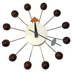 1950s Swiss George Nelson Ball Clock for Howard Miller by Fehlbaum Brothers