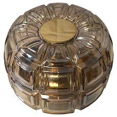 Geometric Textured Glass Flush Mount or Wall Lamp by Limburg