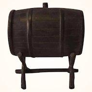 Vintage German Pewter Doll House Vine Barrel