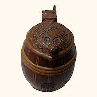 Wood Carved Handmade Beer Stein Urquell 1941