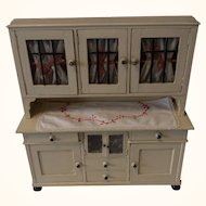 German Doll or Large Scale Dollhouse Kitchen Buffet ca. 1910