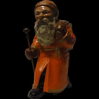 German Ceramic Saint Nicholas Santa Claus Candy Container ca. 1920s