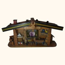 Vintage Black Forest Wall Diorama Mountain Hut