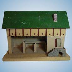 Vintage German Wood Barn Horse Stable