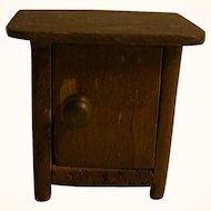 Vintage German Wood Dollhouse Miniature Nightstand