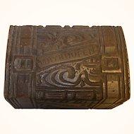 Vintage German Carved Wood Black Forest Box