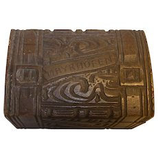 Vintage German Carved Wood Black Forest Box