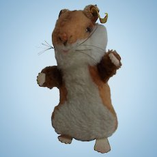 Vintage German Steiff Hamster Goldy with Button