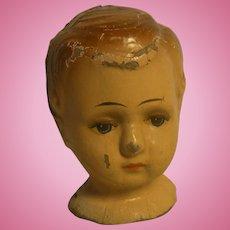 Vintage German Paper Mache Doll Head
