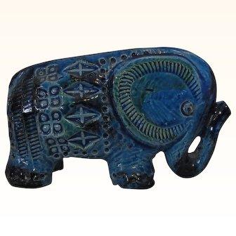 Mid Century Flavia Montelupo Italy Londi Aldo Ceramic Elephant