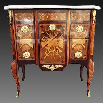 French 18th C Transition Period Commode, stamped Louis-Noël Malle
