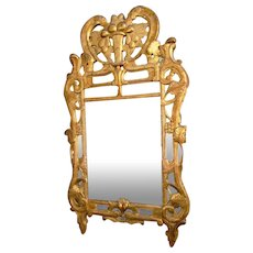 French Provençal Mirror Beaucaire closed, gilded wood, 18th century