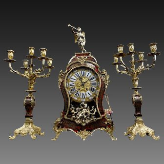 French Cartel and its candelabra, 19th century