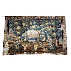 French Large Aubusson Tapestry - Greenery, XVIIIth C, 165 inches