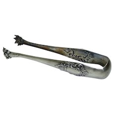 Antique French Silver-Plated Marked Christofle Animal Paw-Shaped Sugar Tongs, L 15 cm
