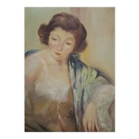 Zoltan, Fine Vintage Signed Oil Painting, Young Woman, 70 x 50 cm