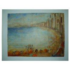 "Vintage 1953 Brazilian Painting by Dorota,  ""Rio"", National Modern Art Exhibition, 50.5 x 66 cm"